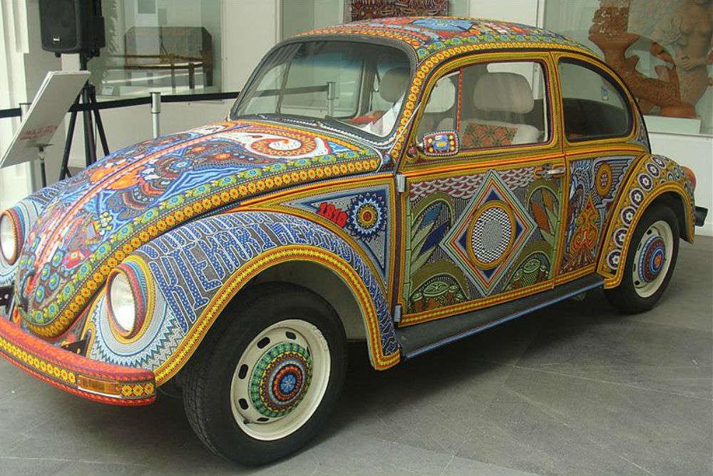 Inside a Volkswagen Beetle in Jordan—the smallest hotel in the world