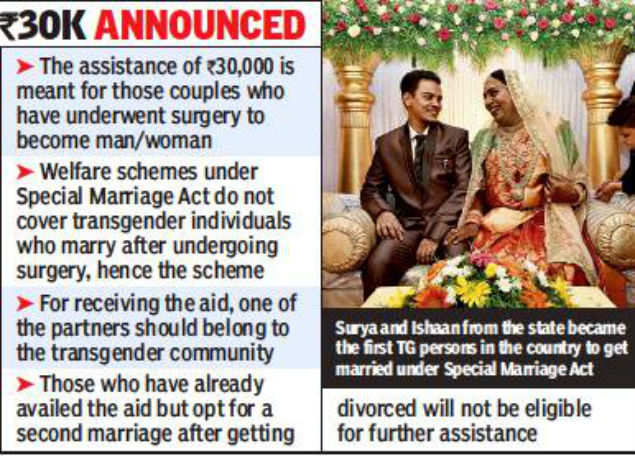 Government aid for legally-married transgender couples