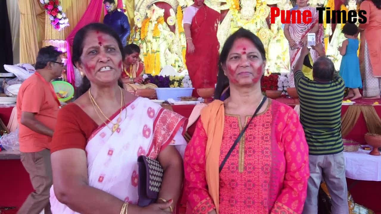 Widows celebrate Sindoor Khela at Hinjewadi Bengali Association in Pune