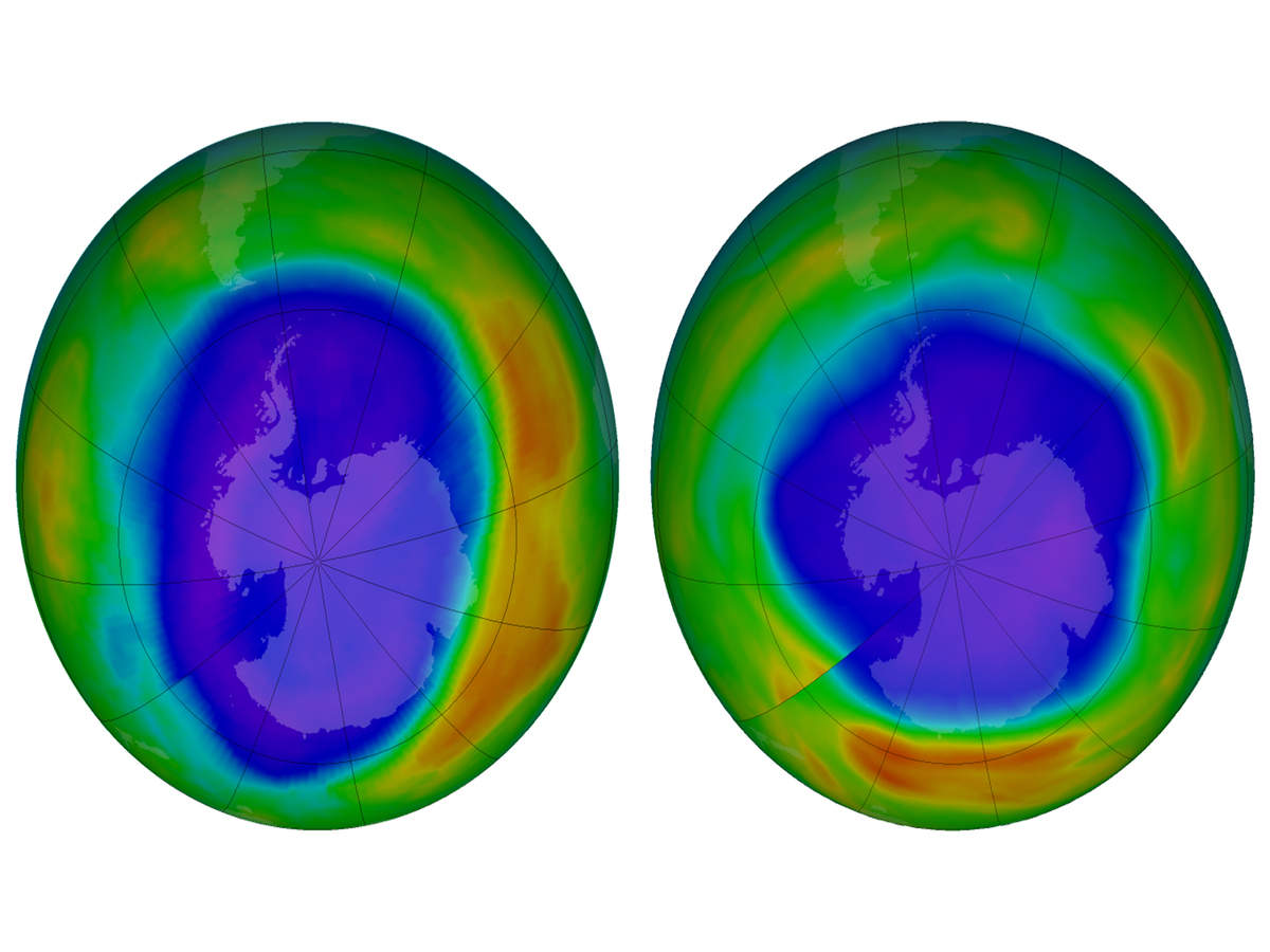 The protective ozone layer on earth is well on its way to recovery says report while signaling completely heals by 2060