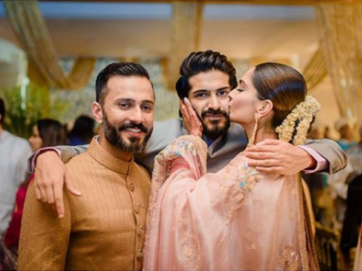 Sonam Kapoor wishes brother Harshvardhan Kapoor on his birthday with an adorable picture - Times of India