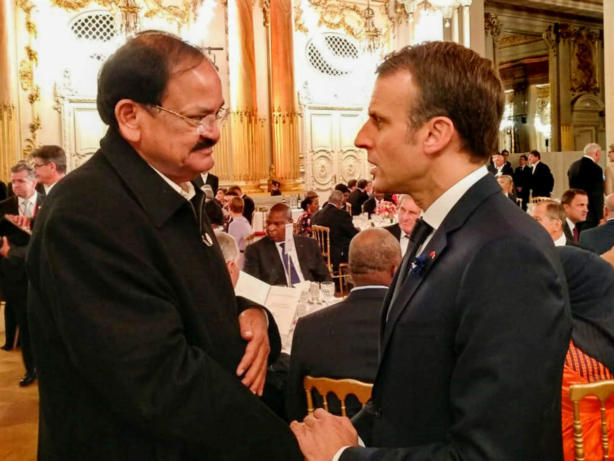 Vice President M Venkaiah Naidu among world leaders who mark the 100th anniversary of the WWI in Paris