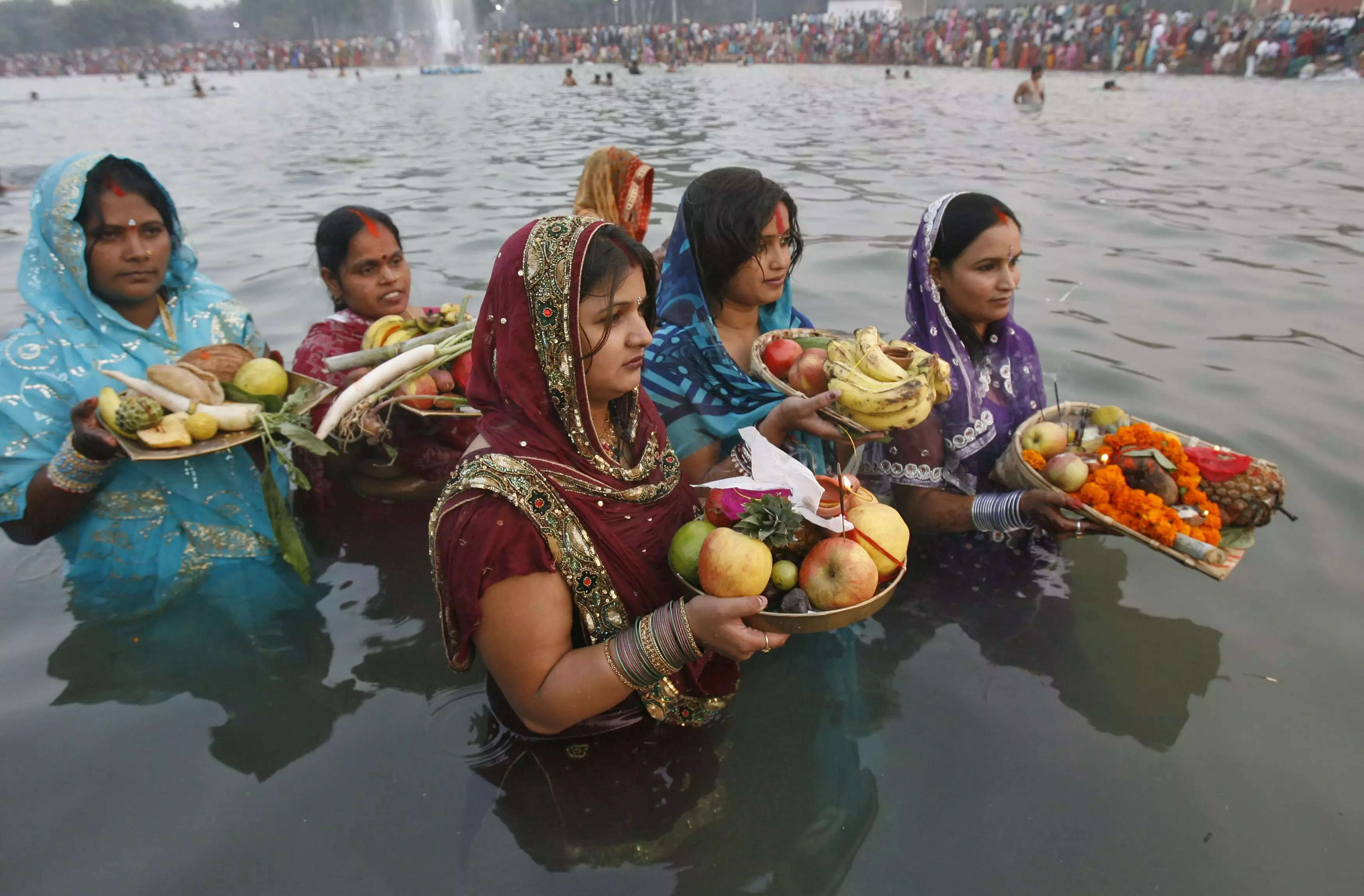 Image result for river puja in india
