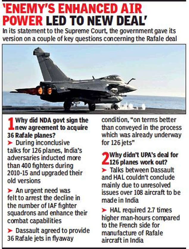 Rafale deal: Enemy's enhanced air power led to new Rafale