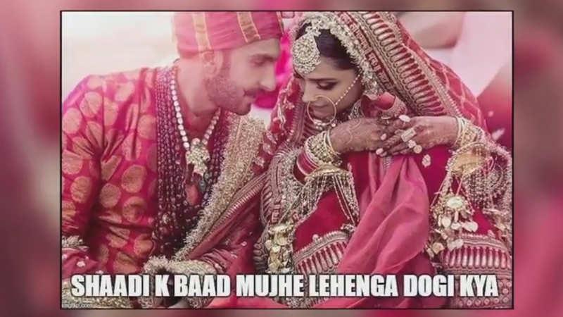 Deepika Padukone and Ranveer Singh wedding: Memes on the pictures go viral
