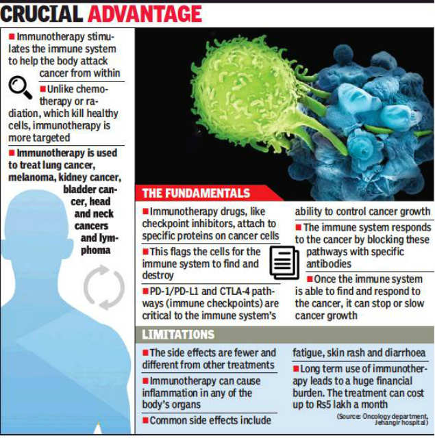 Immunotherapy cure for select cancers | Pune News - Times of India