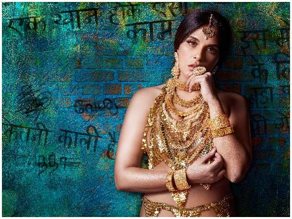 Image result for First Poster Of Shakeela Biopic: Richa Chadha Seen Sizzling In Gold