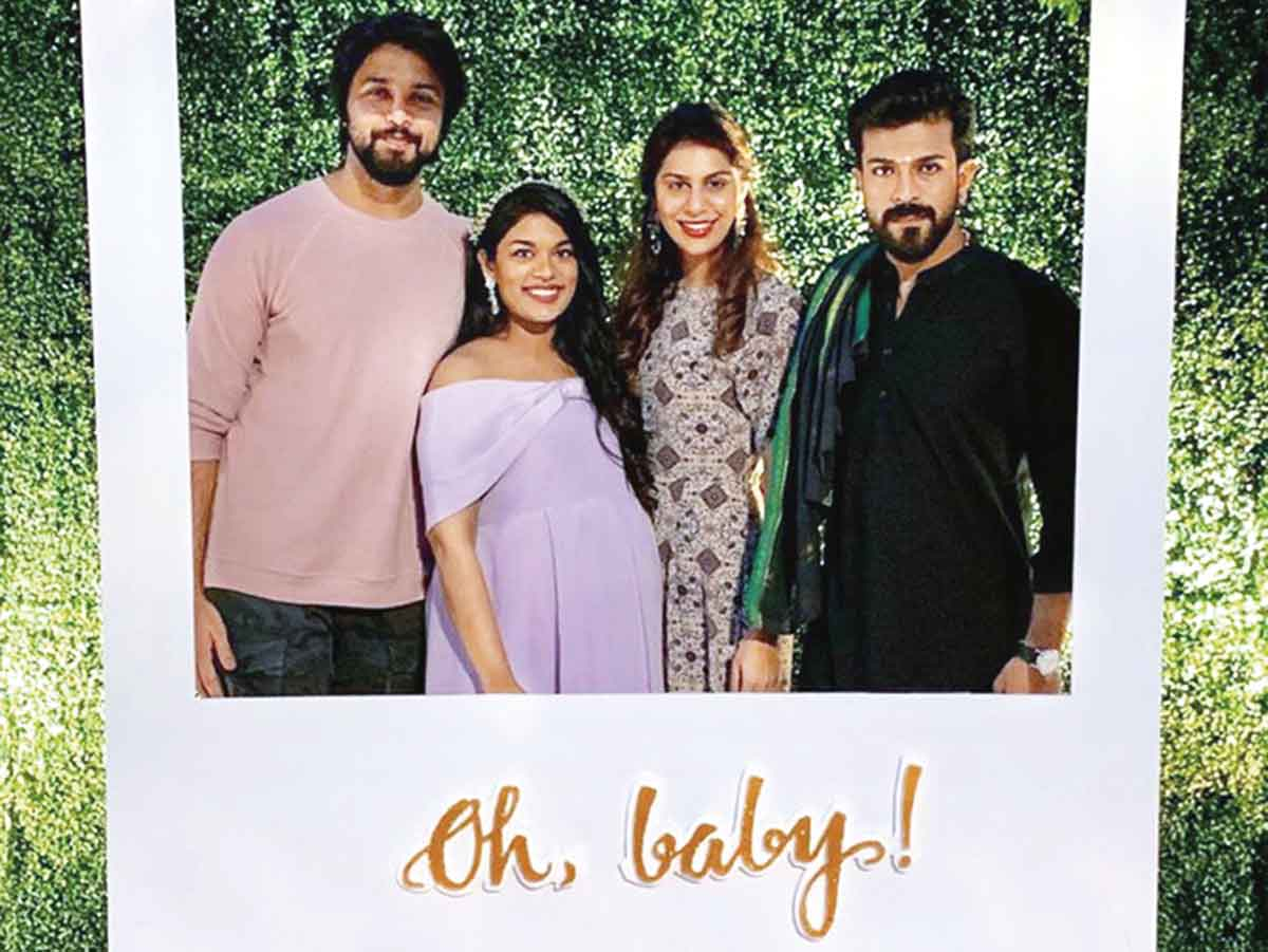All Smiles At Sreeja S Baby Shower Telugu Movie News Times Of India