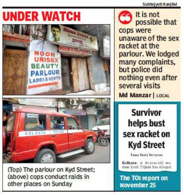 Seedy parlours on police radar after sex racket bust | Kolkata News