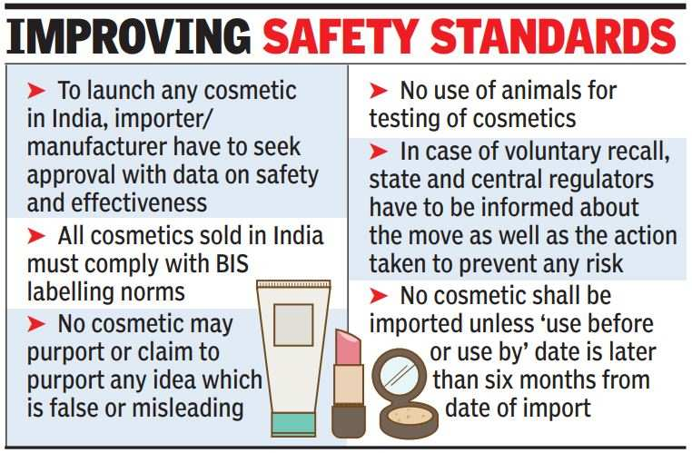 Cosmetics will soon have to meet strict safety norms   India