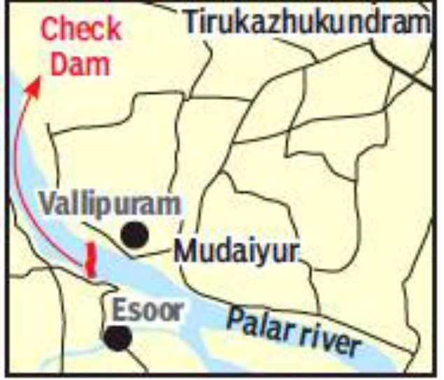 Palar river: Rs 30 5 crore check dam to be built across Palar river