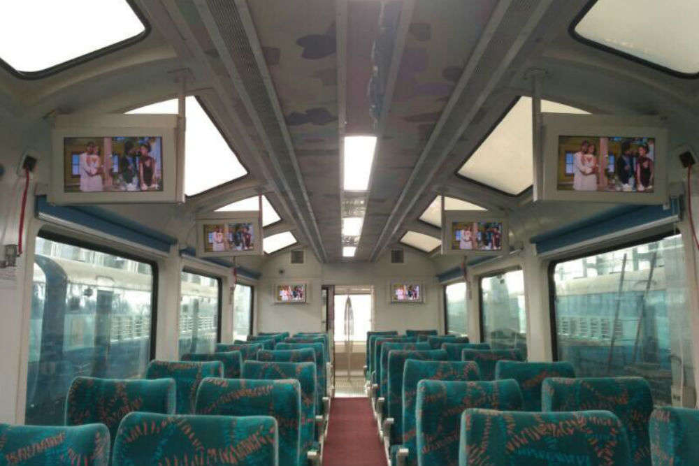 Trains that the Kalka-Shimla train's glass roof coach has a parallel in