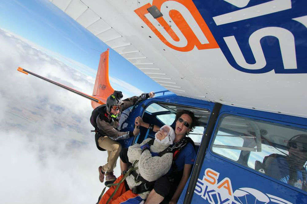 Sky is the limit for this 102-year-old granny, the oldest skydiver in the world!