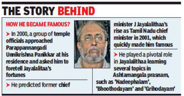 Idol wing officials quiz Jayalalitha astrologer | Chennai News