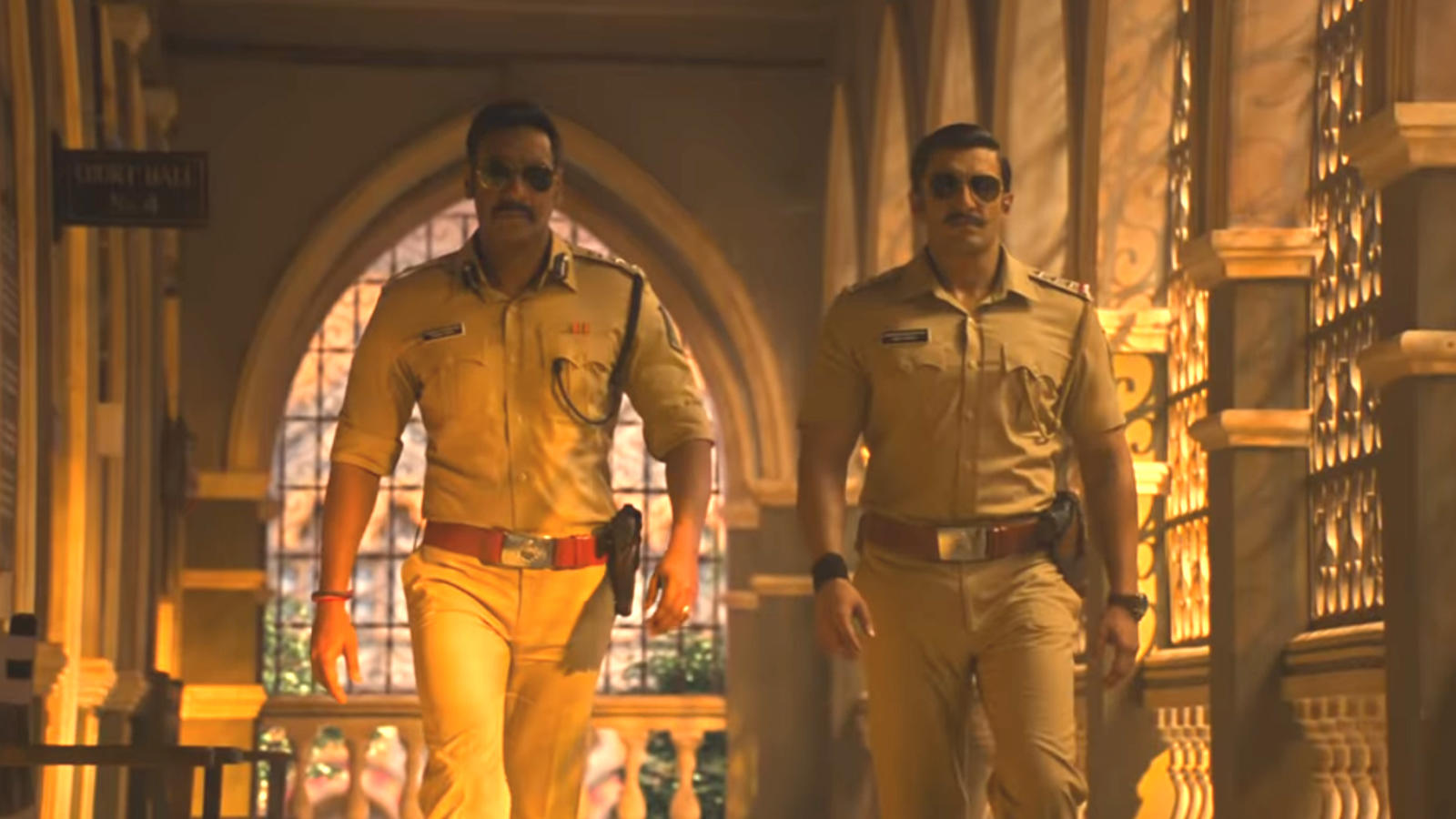 'Singham' Ajay Devgn and 'Simmba' Ranveer Singh in 'Mera Wala Dance' song
