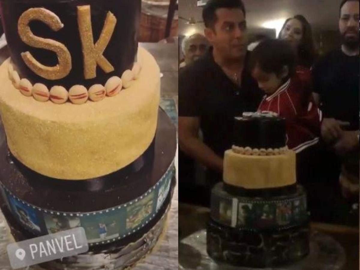 Salman Khan Birthday Photos Heres How The Four Tier High Cake For Was Made
