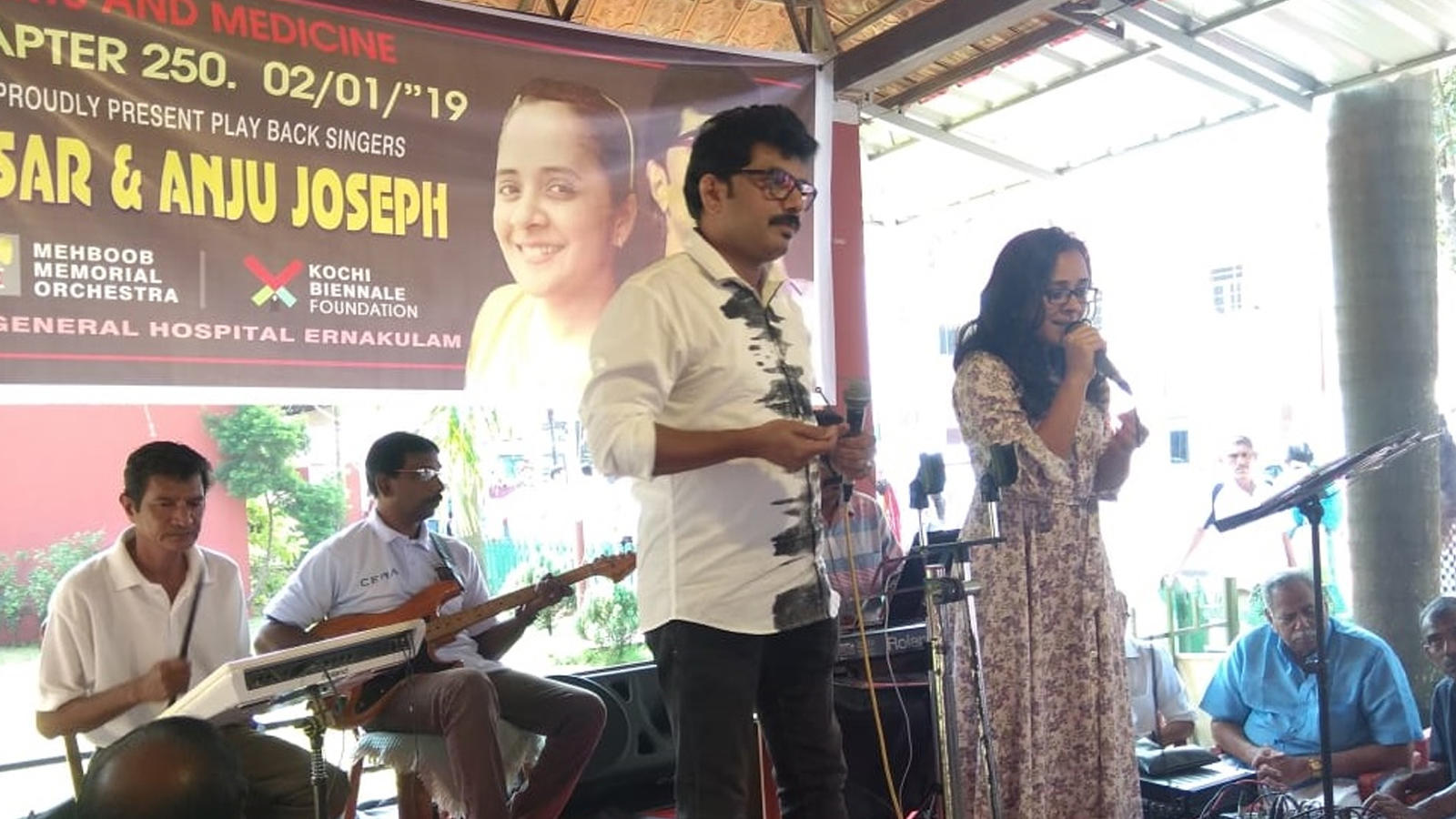 Singers Ansar and Anju Joseph at 'Arts and Medicine' show