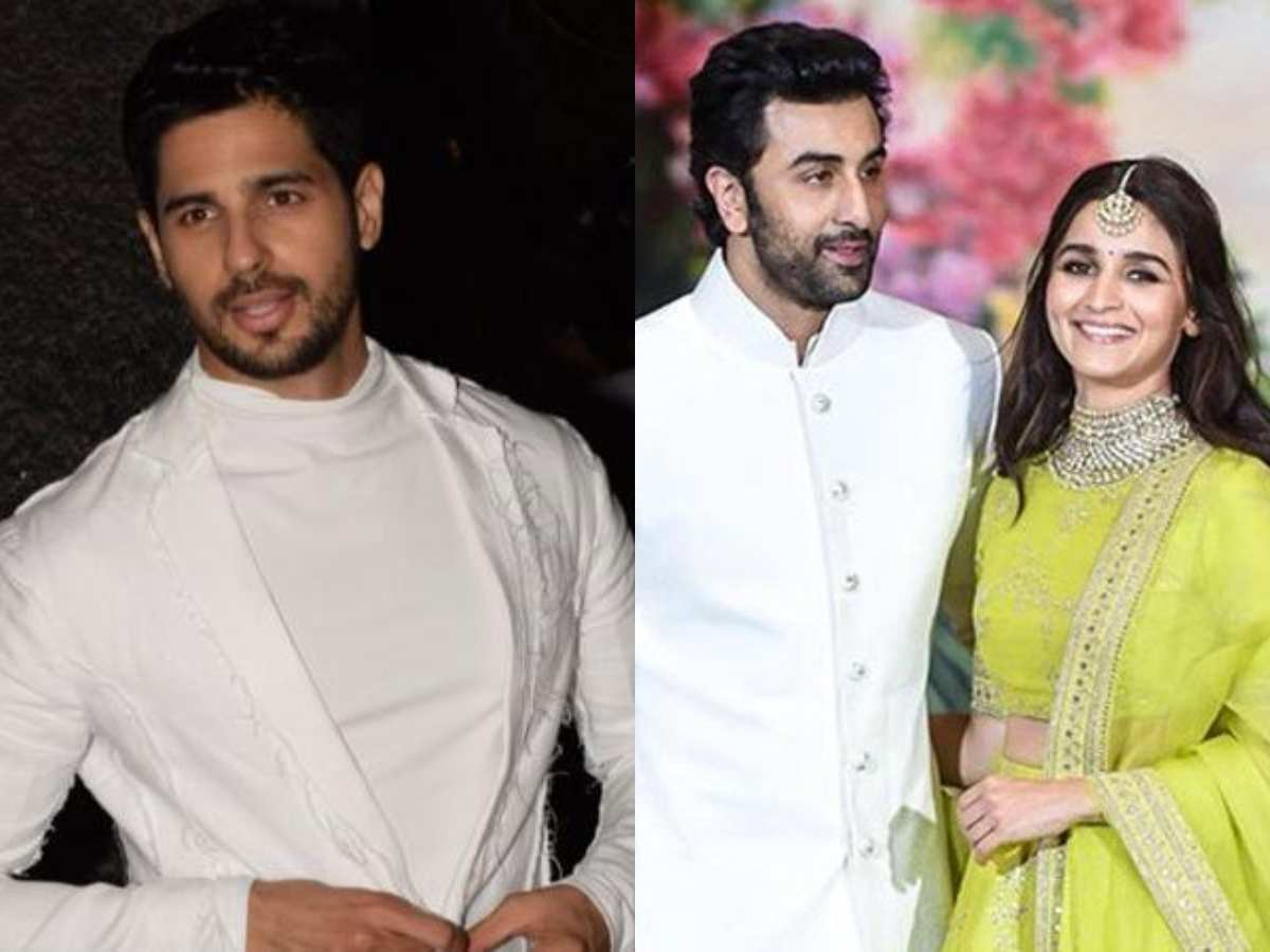 Did Sid ignore Ranbir-Alia? - Times of India