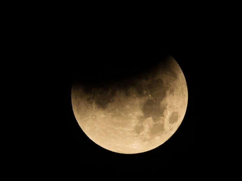 Lunar Eclipse Photos Before Chandra Grahan On 21st Jan 2019 Let S