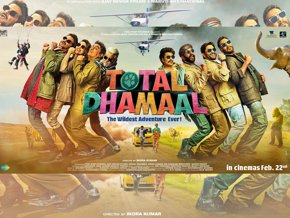 'Total Dhamaal' new poster: Ajay Devgn, Madhuri Dixit, Anil Kapoor and others are set on a never-ending adventure - Times of India