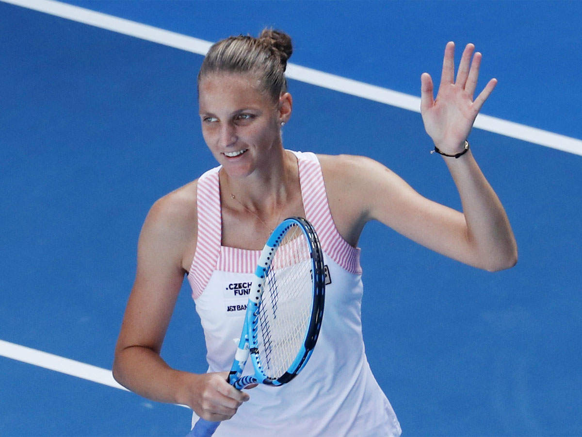 Czech seventh seed Karolina Pliskova floats to the Australian Open-quarter