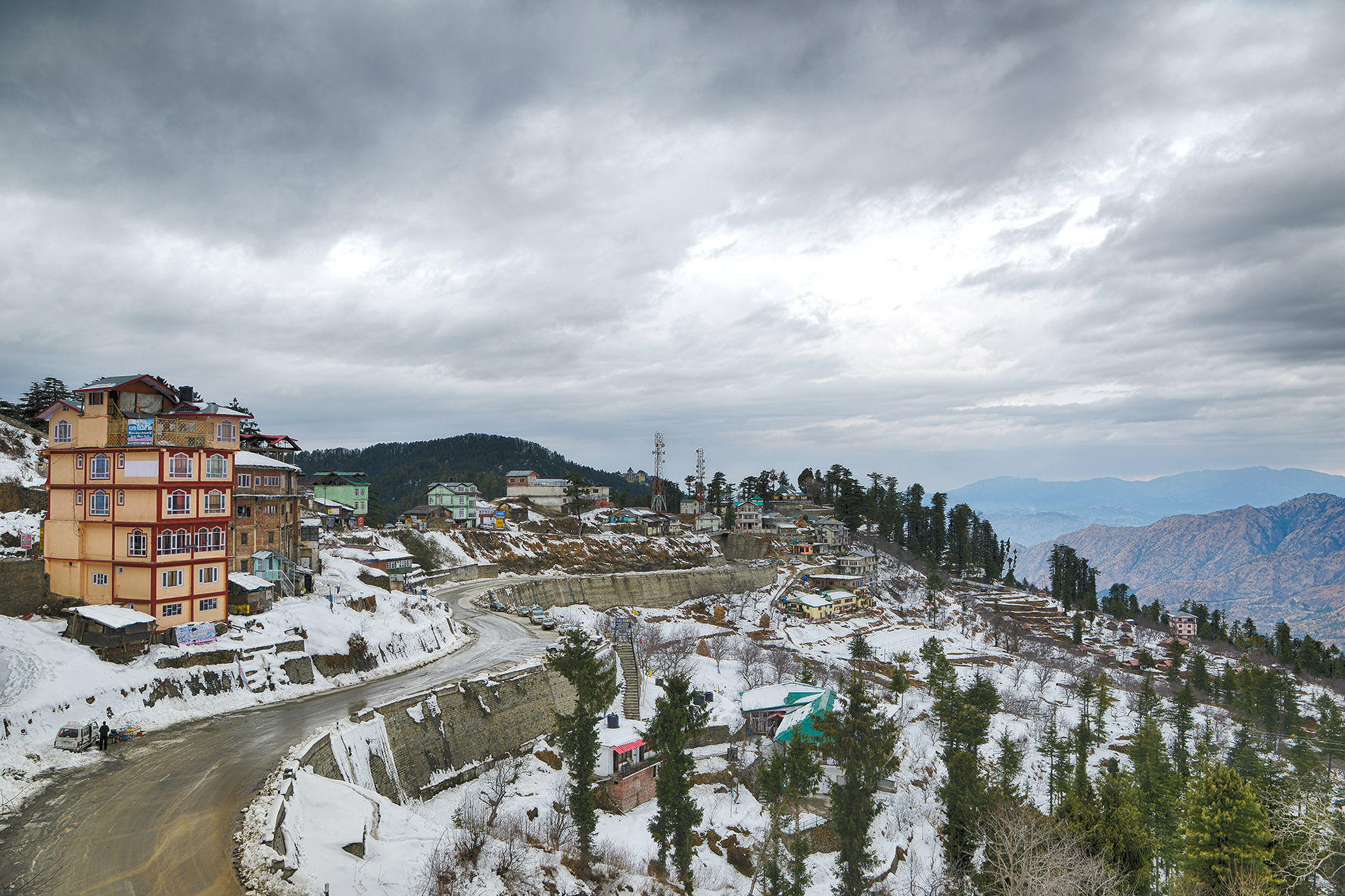 Dalhousie weather hit sub-zero, as does most of Himachal after heavy snowfall