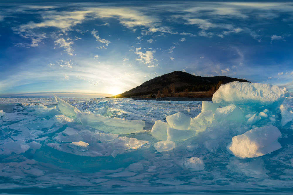 The deepest lake in the world has frozen and we cannot get over the photos