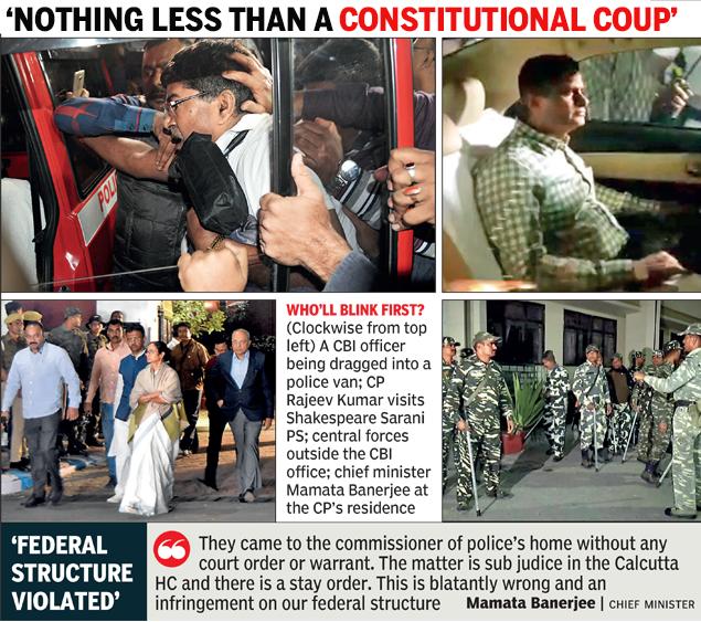 West Bengal: Kolkata police 'nab' CBI men, Mamata Banerjee