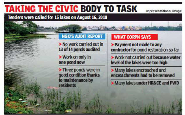 Chennai: NGO audit finds corporation restored only one of 15 ponds