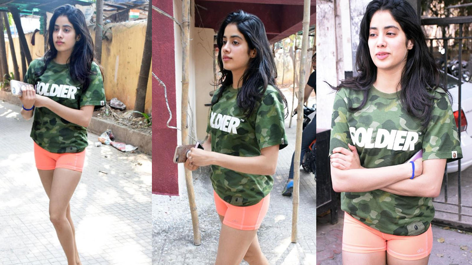 Image result for jhanvi-kapoor-hot-spot-outside-gym-see-her-different-style-in-pictures