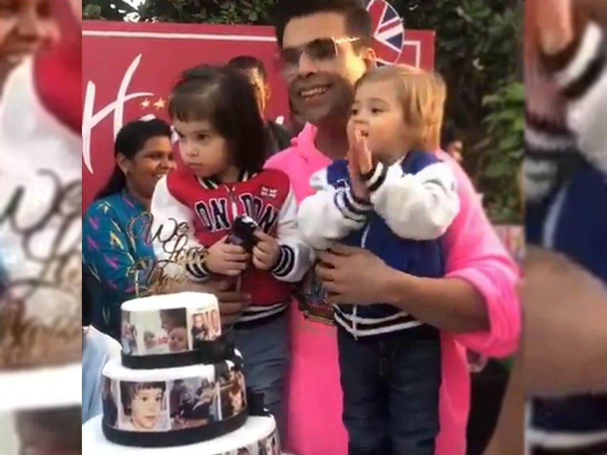 Watch: Karan Johar Hosts A Grand Birthday Bash For Twins Roohi And Yash; Varun Dhawan And Other Stars Attend | Hindi Movie News