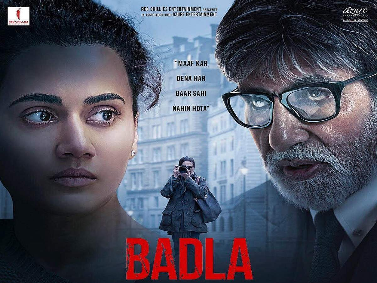 'badla': Amitabh Bachchan And Taapsee Pannu Starrer Film's Trailer To Be Out Today | Hindi Movie News