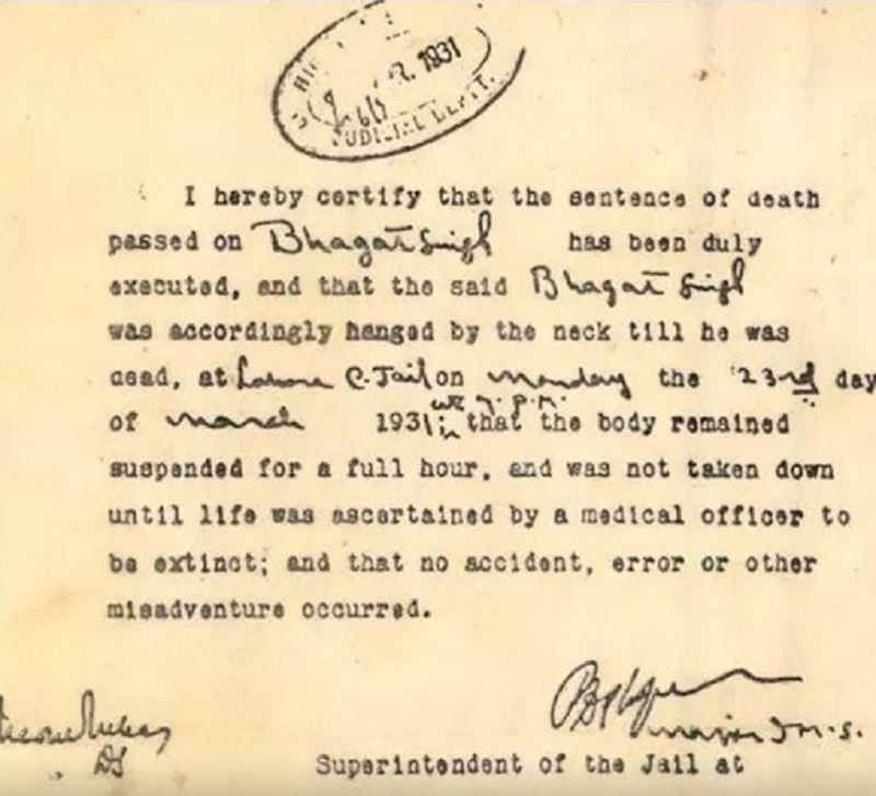 Bhagat Singh Sukhdev Rajguru Were Not Hanged On February 14 Times Of India