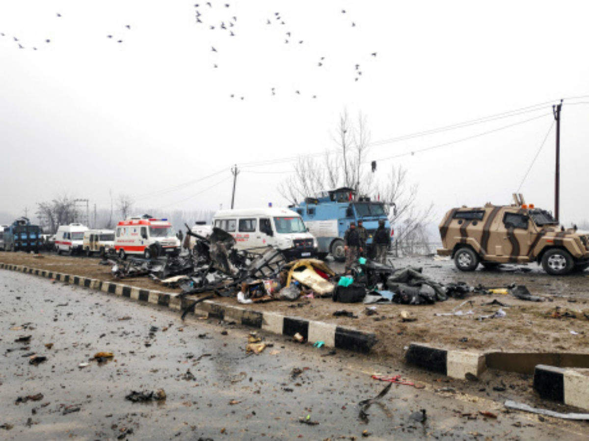 pulwama terror attack today: 40 crpf jawans martyred in ied blast in