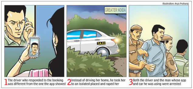 Greater Noida: After rape in cab, aggregator to face action