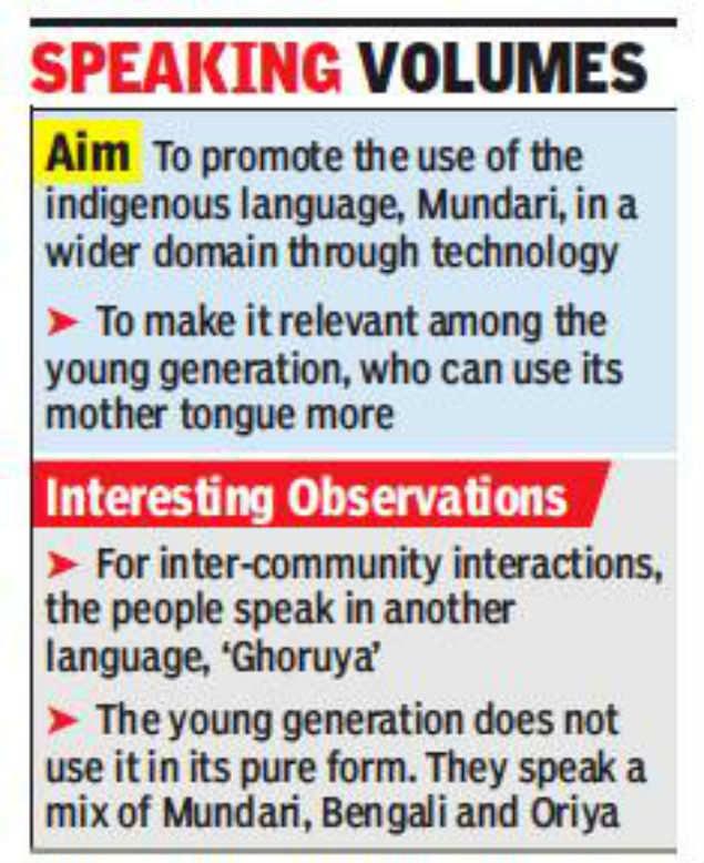 IIT set to launch app in Mundari to keep indigenous language