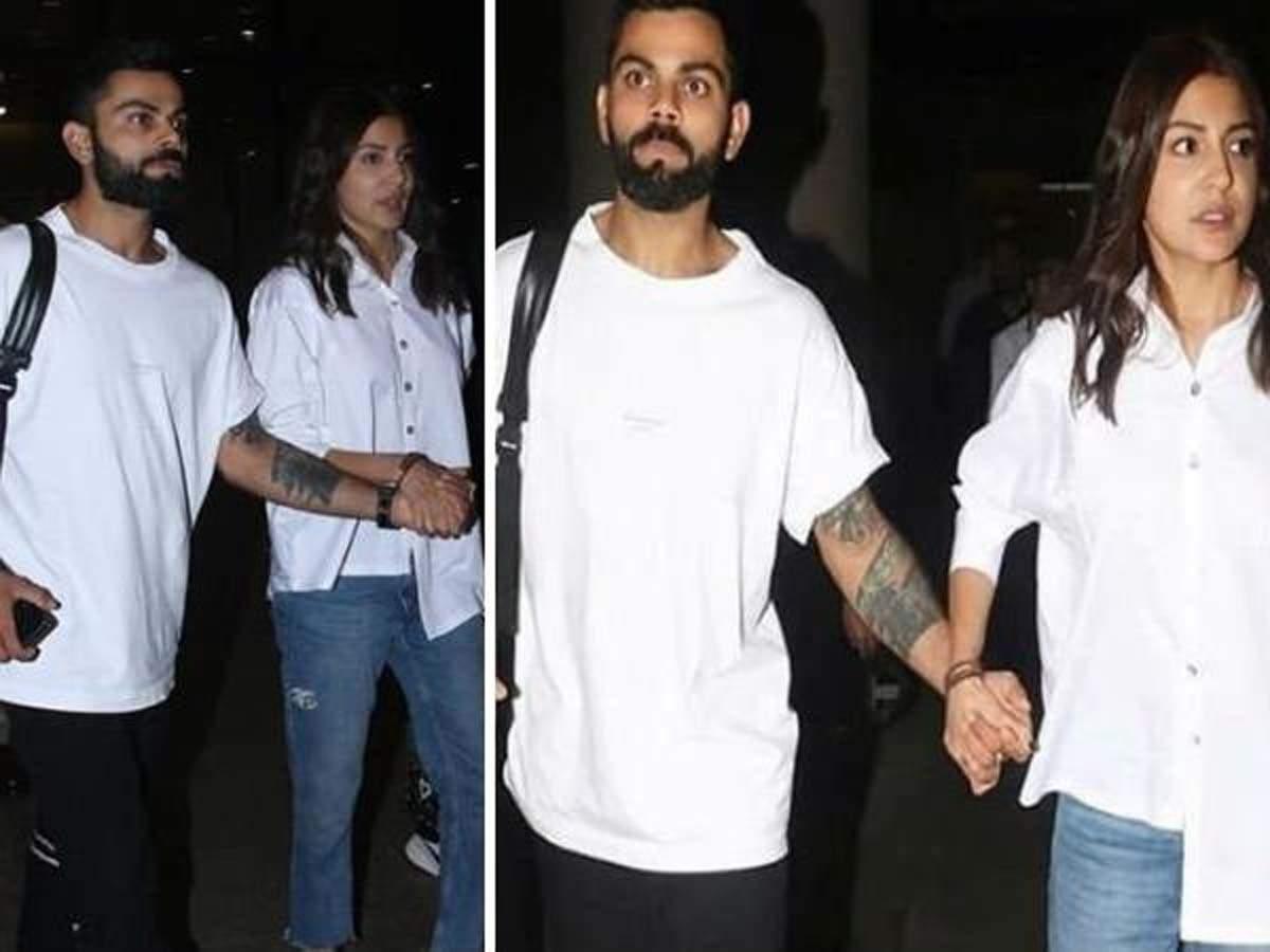 Spotted Anushka Sharma And Virat Kohli Twinning In White At