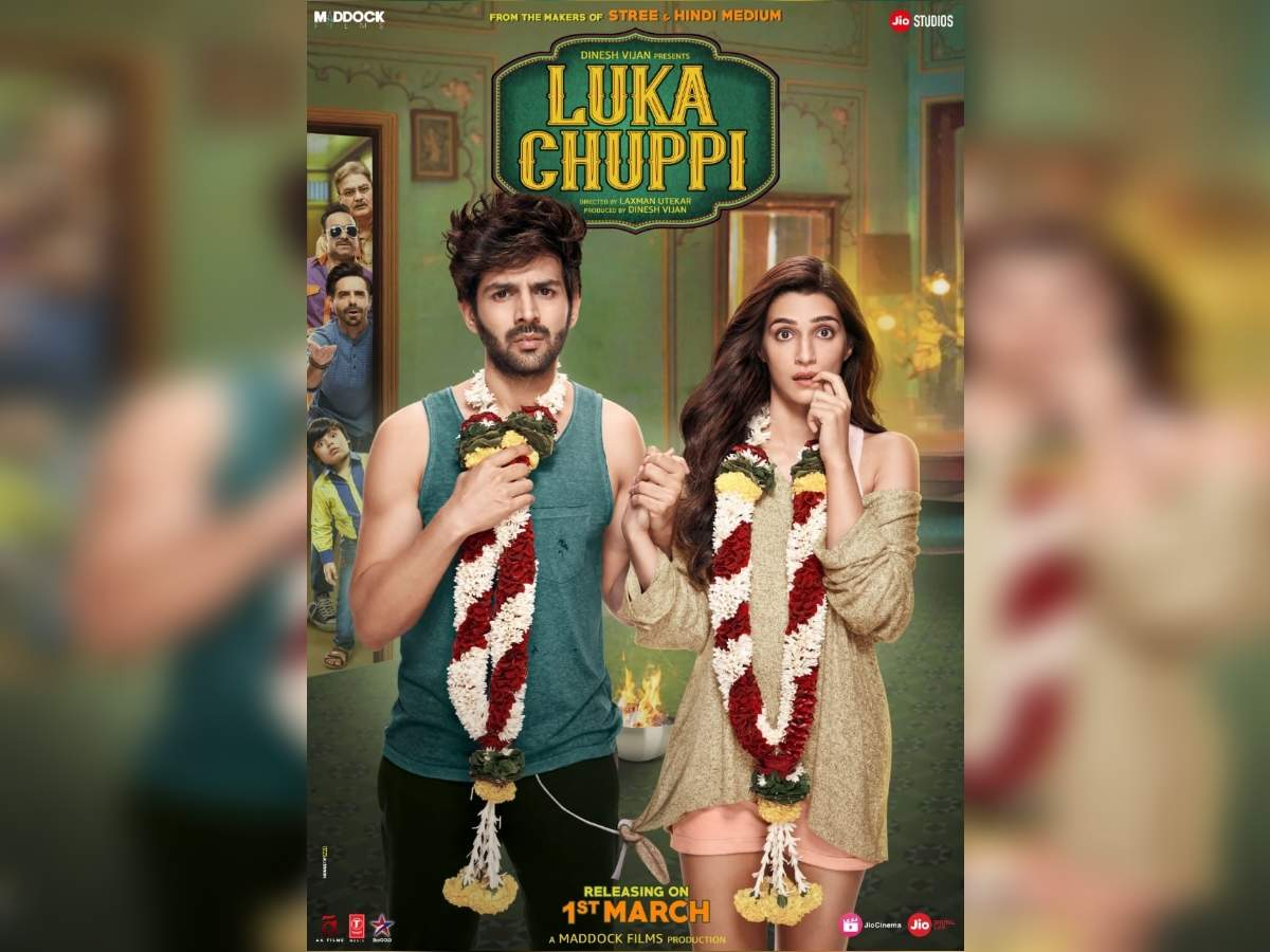 5d4cb1823df Kartik Aaryan and Kriti Sanon s  Luka Chuppi  gets U A certificate with 4  cuts
