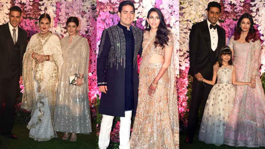 From Rekha to Aishwarya Rai Bachchan, celebs at Akash Ambani-Shloka Mehta's  Mangal Parv