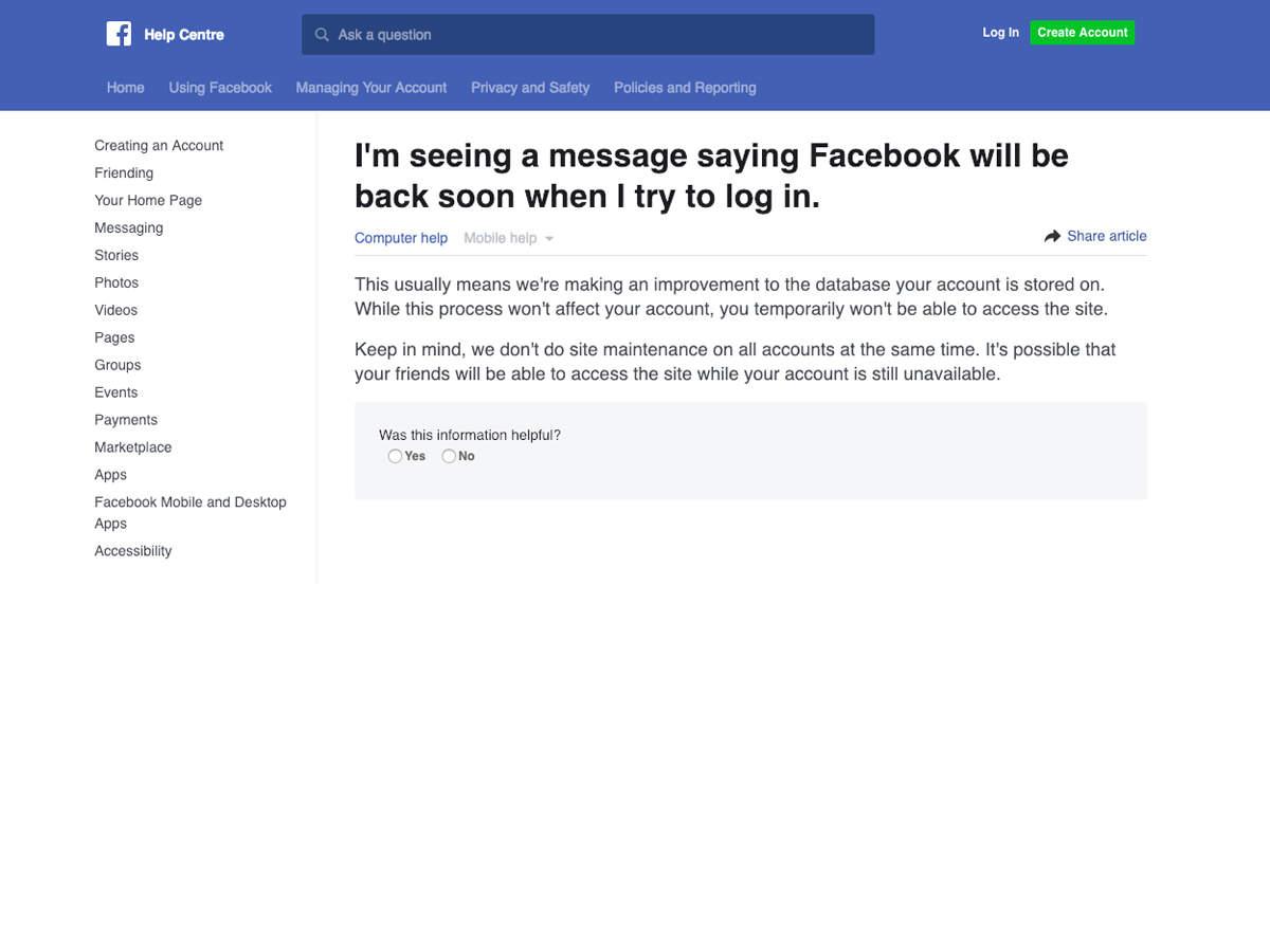 facebook down: Facebook, Instagram go down in several parts