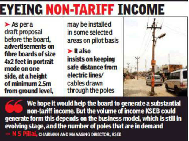 KSEB to lease out electric poles for advertisements | Kochi