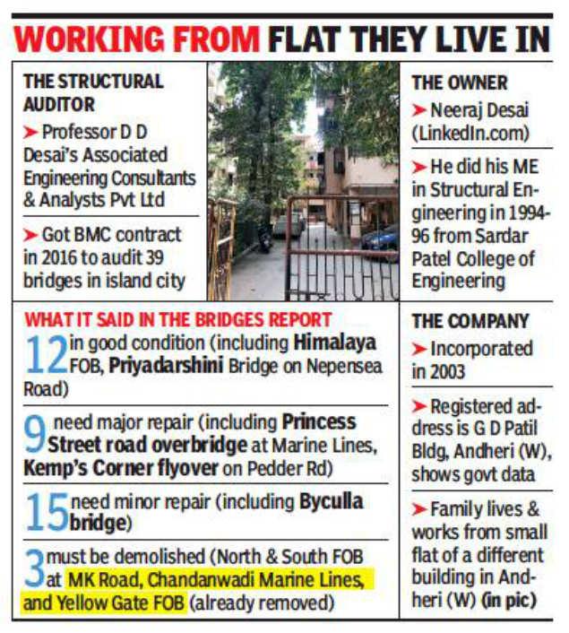 Mumbai bridge collapse: Structural audit company given 39 jobs