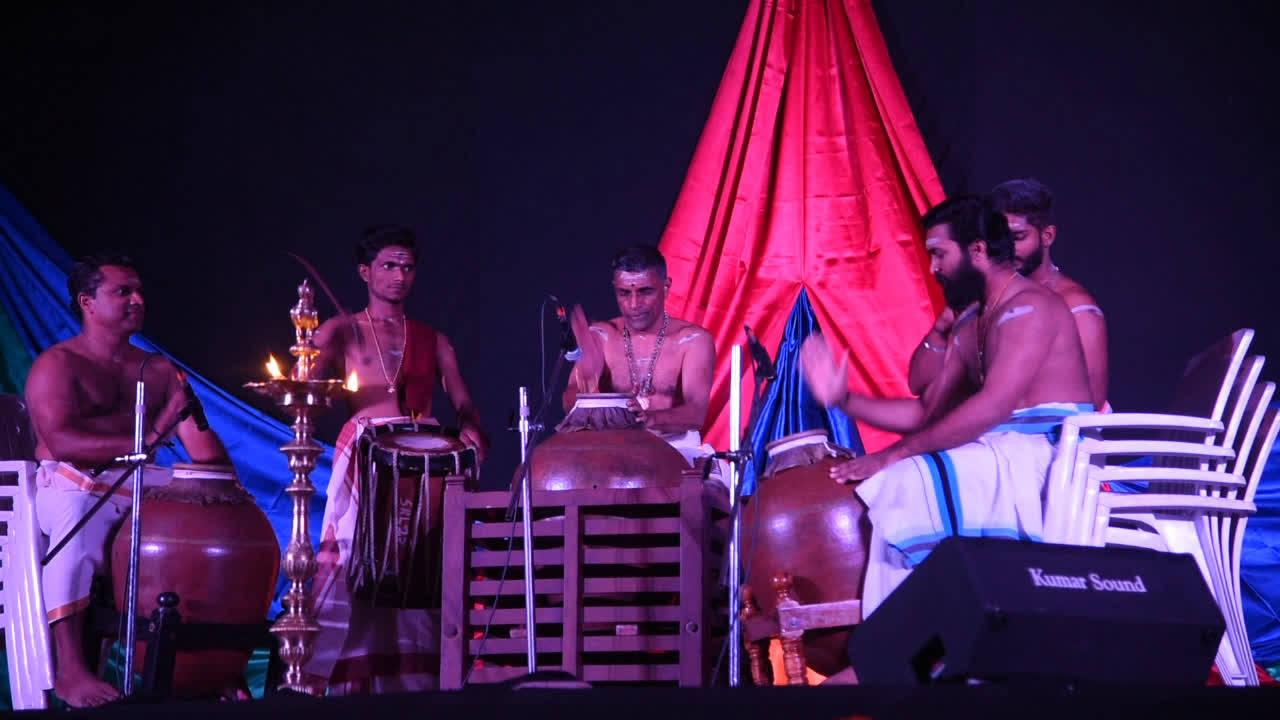 Mizhavu Melam artist perform at KCT in Coimbatore