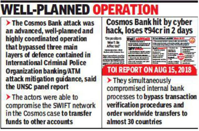 North Korea hand in Pune's Cosmos Bank cyber heist: UNSC panel