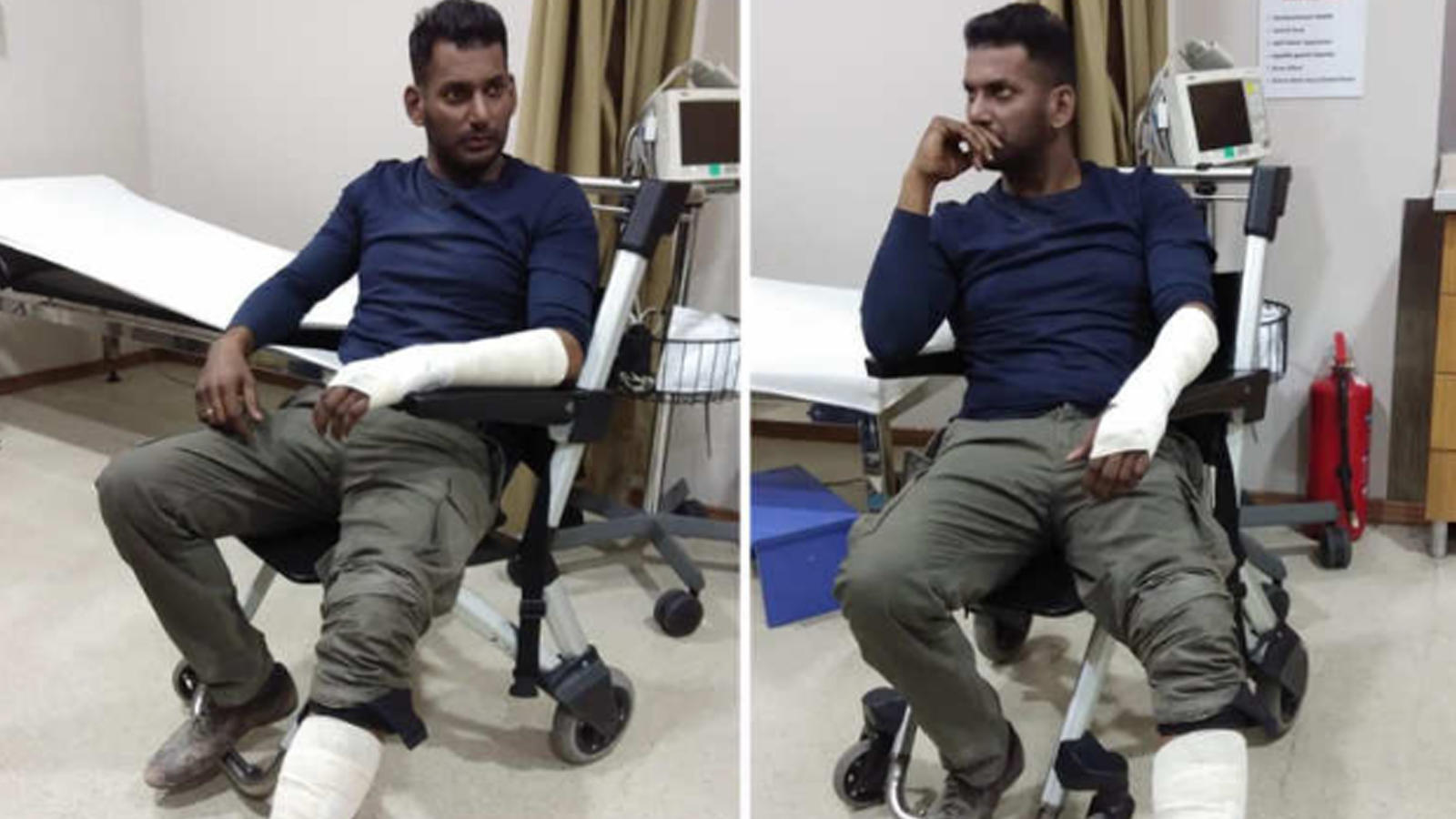 Tamil actor Vishal meets with an accident during film shoot