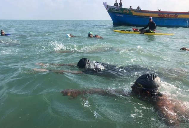 10-year-old Tamil Nadu boy swims across Palk Strait | Chennai News