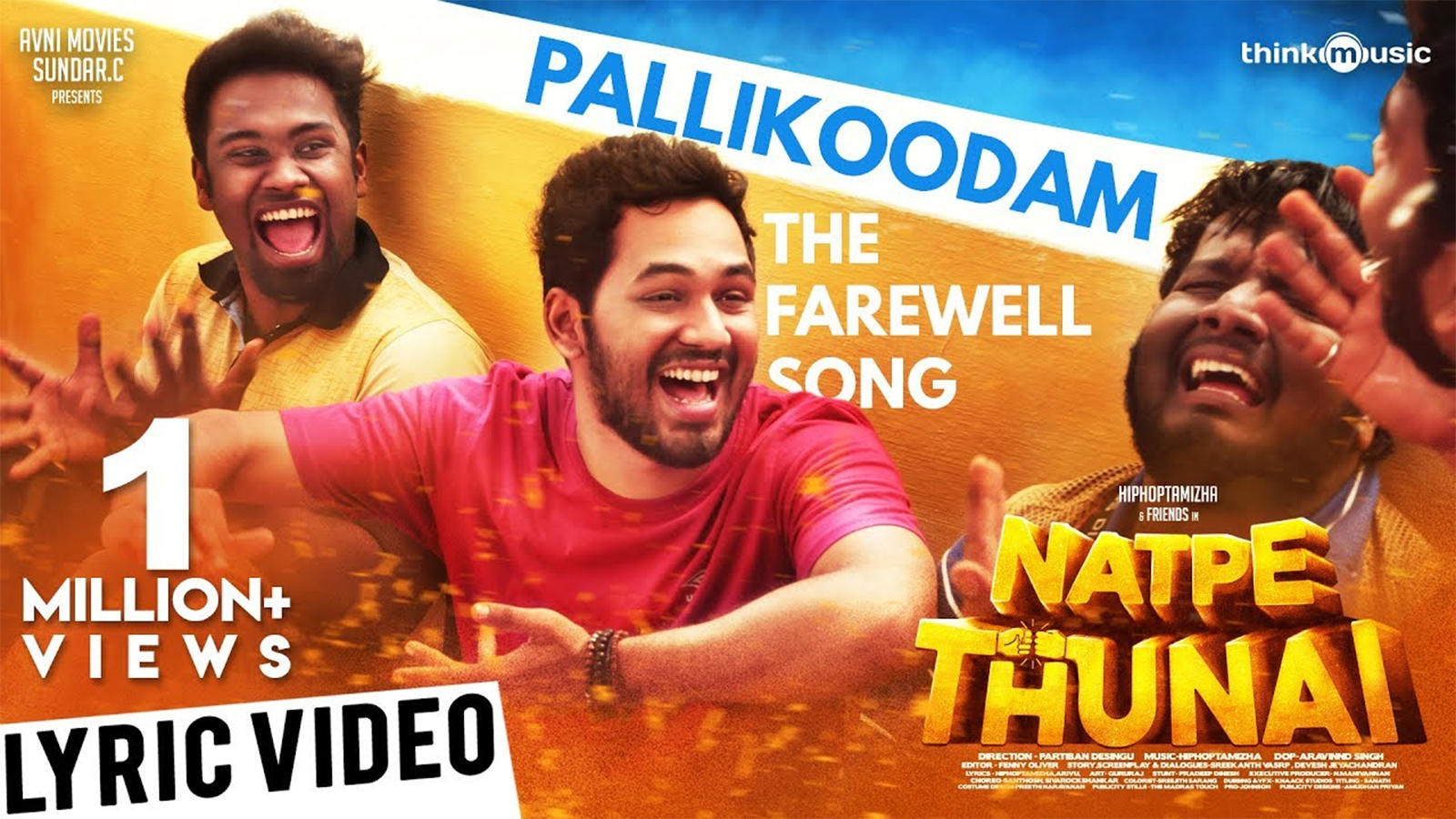 Natpe Thunai | Song - Pallikoodam (Lyrical)