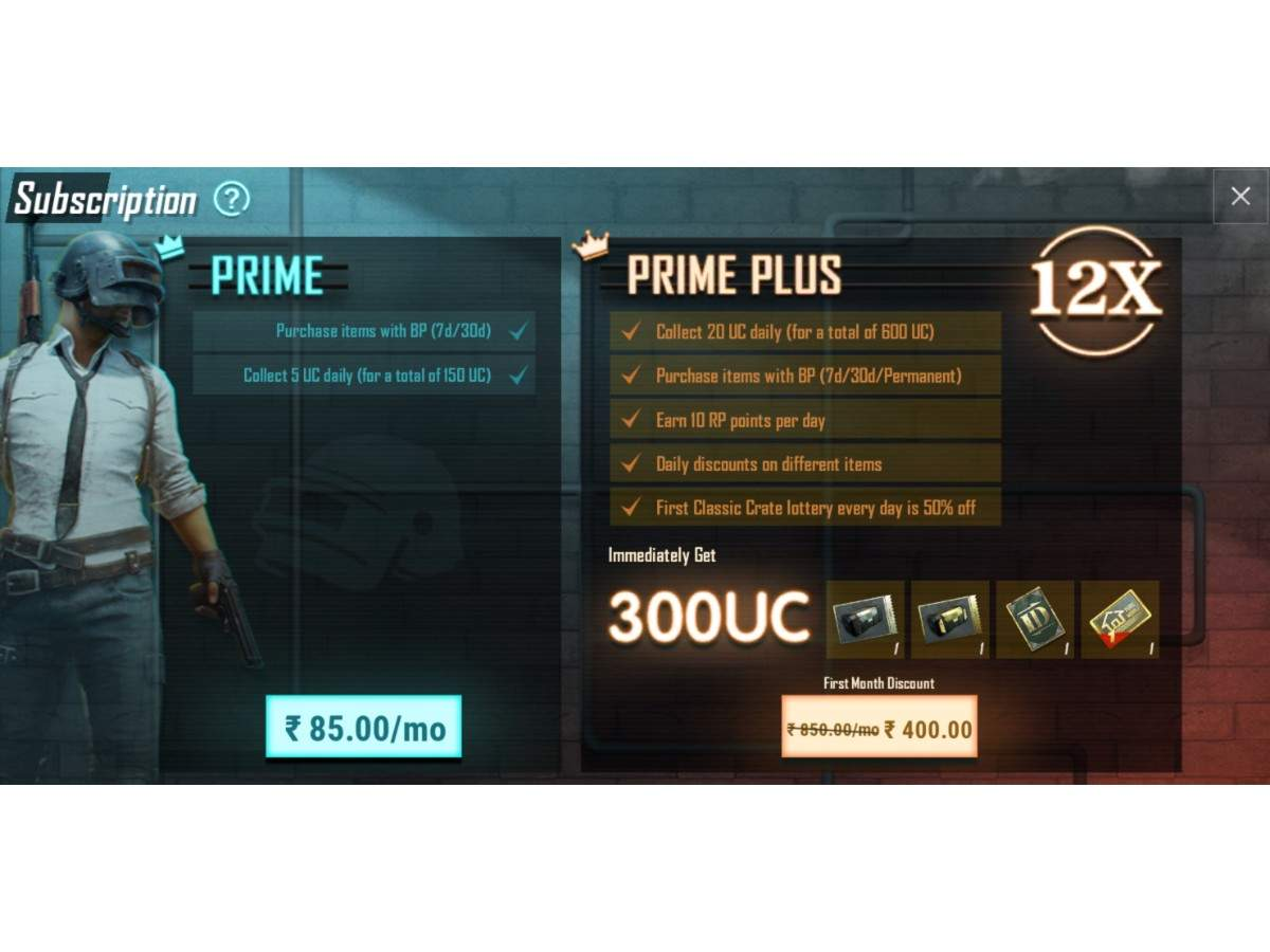 PUBG Mobile Prime: PUBG Mobile Prime and Prime Plus