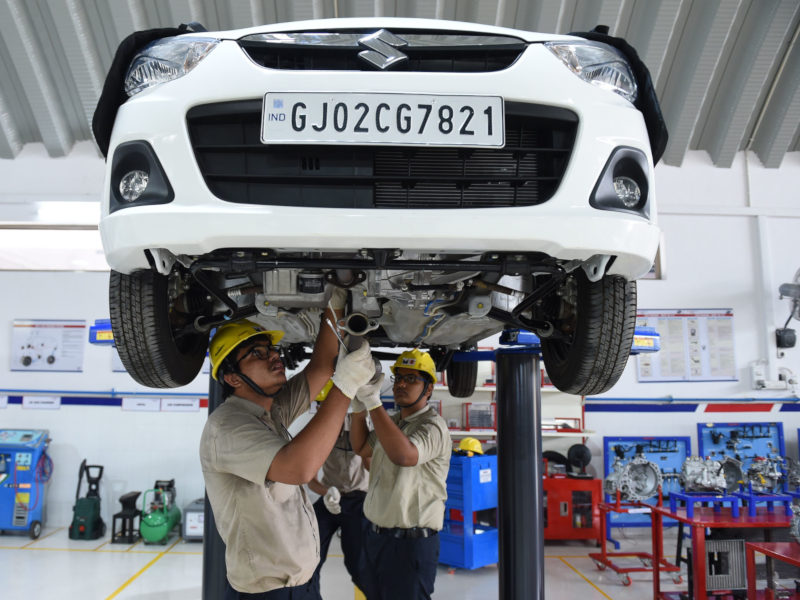 Maruti cut vehicle production by around 21% in March - Times of India