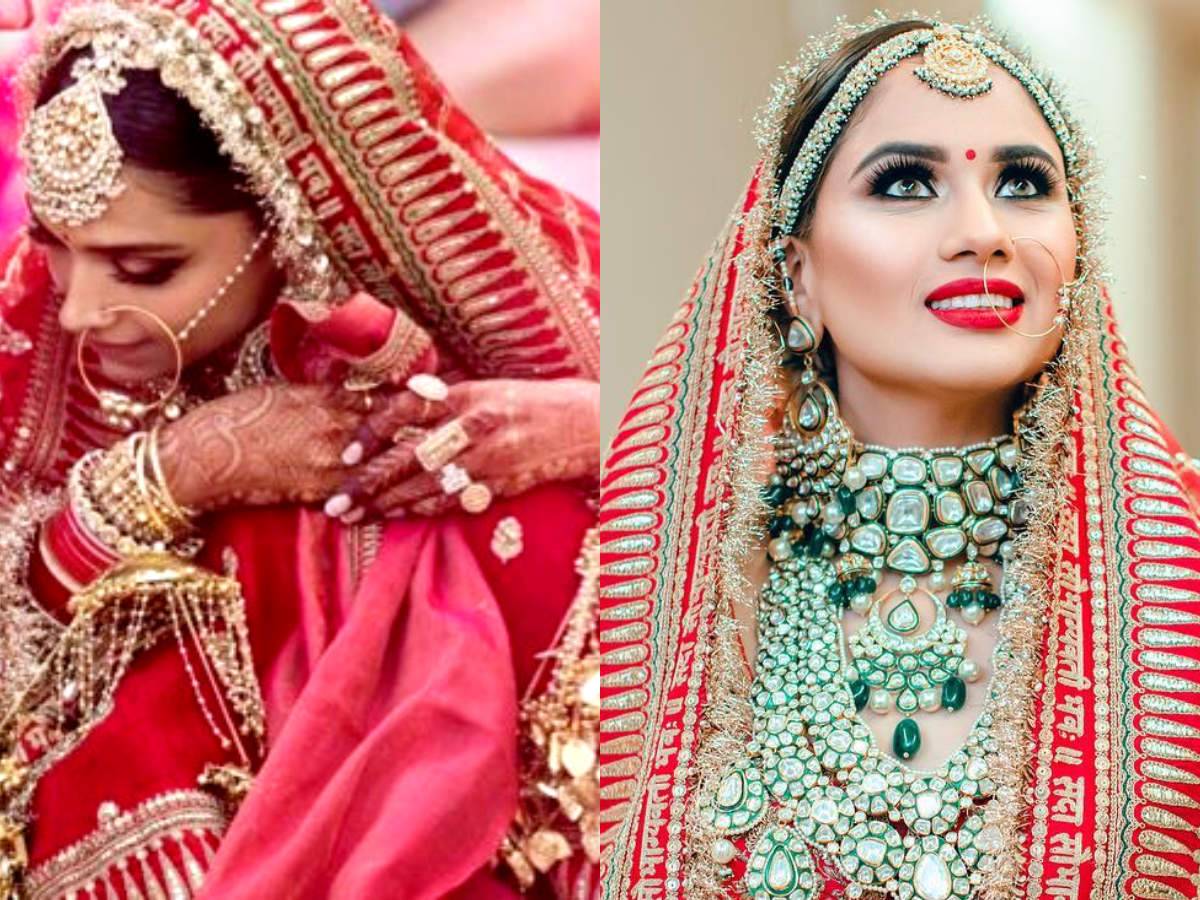 This bride wore the same bridal lehenga as Deepika ...